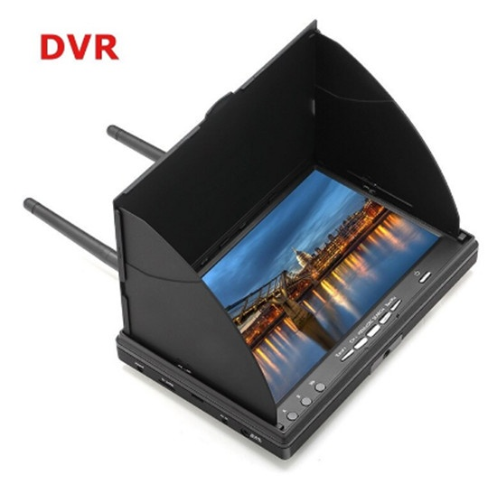 LCD5802D LCD5802S 5802 5.8G 40CH 7 Inch Raceband FPV Monitor 800x480 With DVR Build-in Batteryr Video Screen For FPV Multicopter