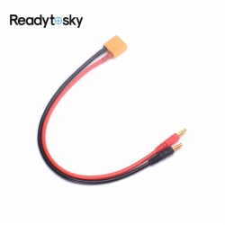 XT90 Male to 4.0mm banana connector with 30CM 12AWG Silicone Charger Cable