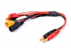 20cm 16AWG 4.0mm Banana Plug XT60 to XT60 XT30 DC5.5 T Plug Charger Adapter Cable