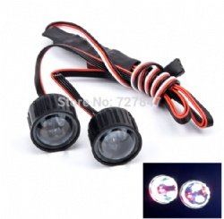 Multifunction RC Car 22mm Headlight LED Lights with Controller Board for 1/10 Axial SCX10 90046 RC Rock Crawler Car