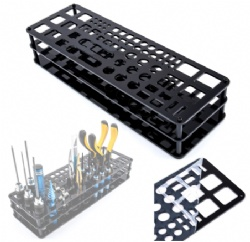 Screwdriver Storage Rack Holder Screwdriver Organizers for Hex Cross Screw Driver RC Tools Kit Organizers 63 Hole Without Tools