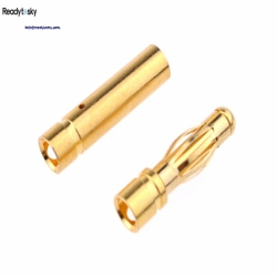 Readytosky 3.5mm Male&Female Gold Bullet Banana Connector