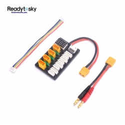XT60 With 4mm Banana Connector 4CH Parallel Charging Board with LED
